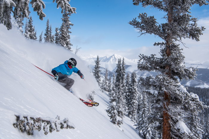 A skier at Crested Butte Mountain Resort