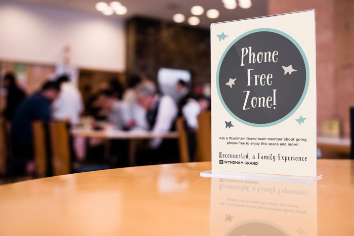 Phone Free Zone sign