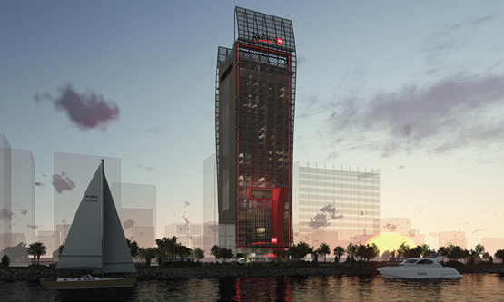 Rendering of a unnamed Radisson Hotel Group Hotel