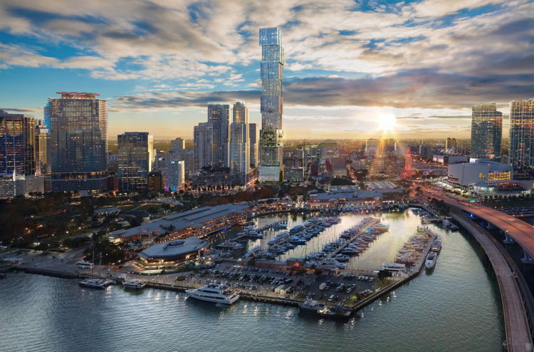 Rendering of the Waldorf Astoria Hotel & Residences Miami
