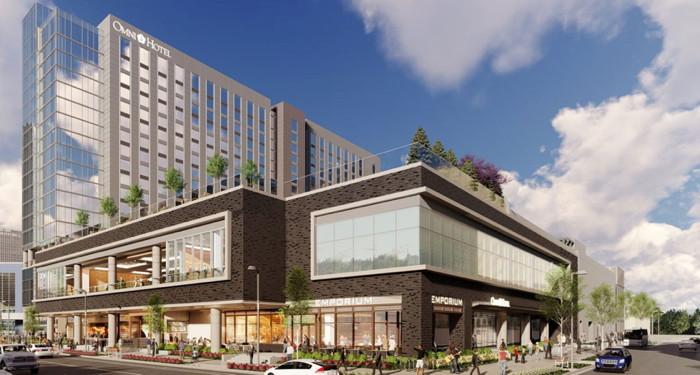 Rendering of the Omni Oklahoma City Hotel