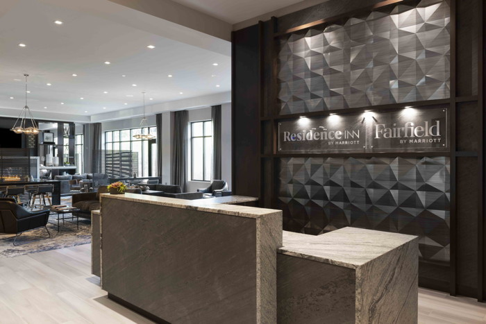 Dual Brand Residence Inn/Fairfield Inn & Suites by Marriott Boston Waltham - Reception Desk