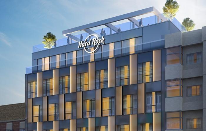 Rendering of the Hard Rock Hotel Madrid