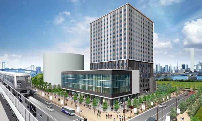 Rendering of the Hotel JAL City Tokyo Toyosu
