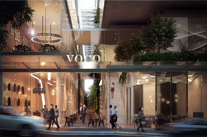 Rendering of the voco Melbourne Central hotel