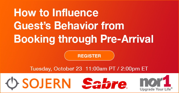 Promotional image for Sojern, Sabre and Nor1 Webinar