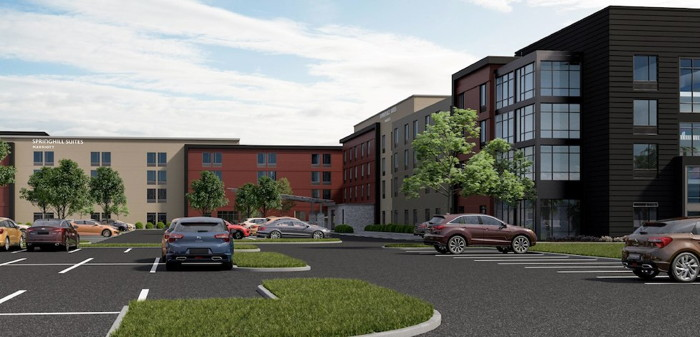 Dual-Branded SpringHill Suites and TownePlace Suites in Columbus, Ohio - Exterior