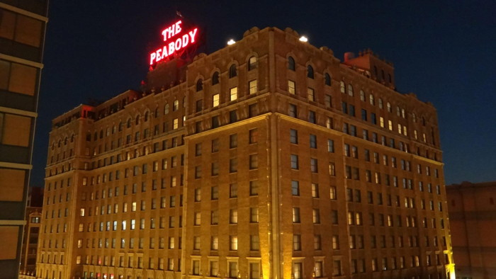 The Peabody Memphis - Exterior at night