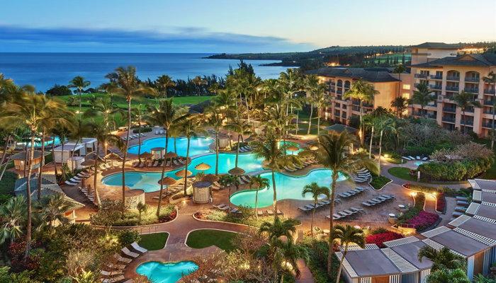 Ritz-Carlton Kapalua Hotel -Aerial view