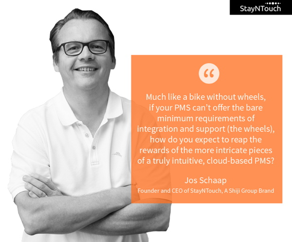 StayNTouch CEO Jos Schaap with quote