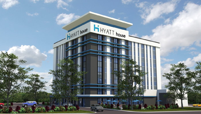 Rendering of the Hyatt House Baltimore Washington International Airport - Source Overcash Demmitt Architects (ODA)