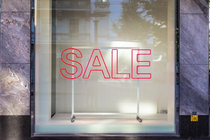A 'Sale' sign