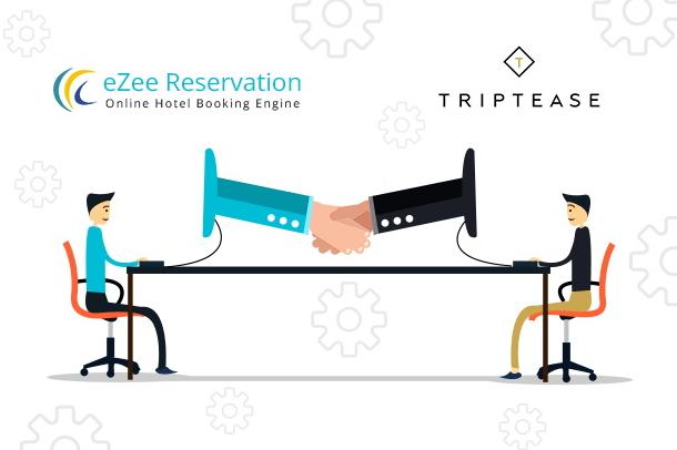 eZee Technosys and Triptease logos