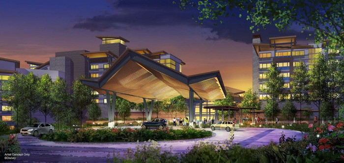 Rendering of the Disney Mixed-Use Resort on Bay Lake