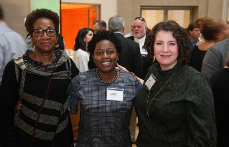 Pictured above, from left to right, are: Iris Wilson and Amanda Alexander of the D.C. Public Schools System, with Amy Saltzman, ProStart program director