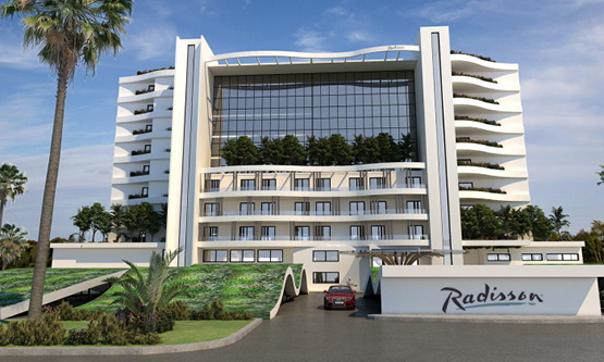 Rendering of the Radisson Larnaca Beach Resort in Cyprus