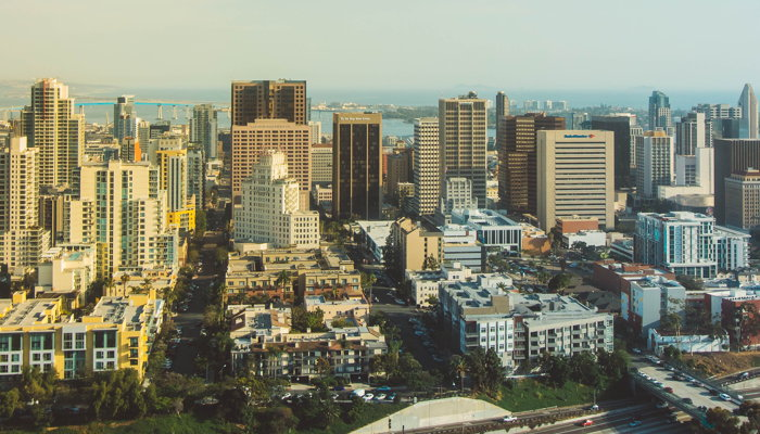 Aerial photography of skyscrapers in San Diego - Photo by Tyrel Johnson on Unsplash