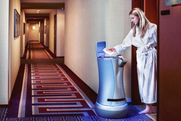 The Relay robot by Savioke Inc.