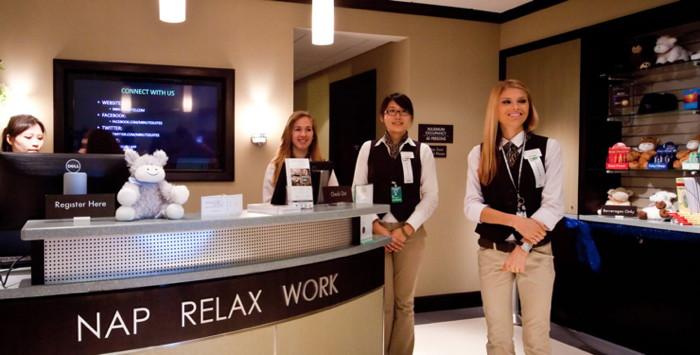 Minute Suites reception area
