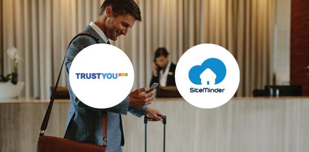 TrustYou and SiteMinder logos