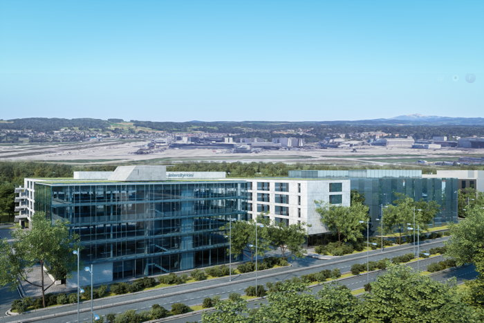 Rendering of the IntercityHotel Zurich Airport