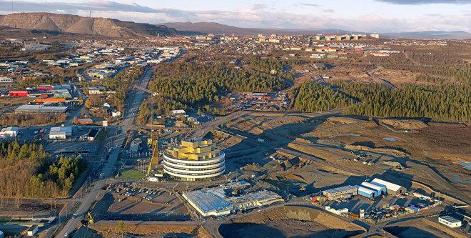 Aerial view of Kiruna - Foto: Tomas Utsi
