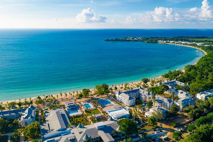 Riu Palace Tropical Bay in Negril - Aerial view