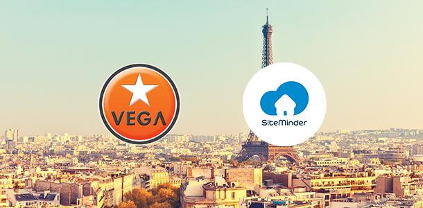 VEGA and SiteMinder logos