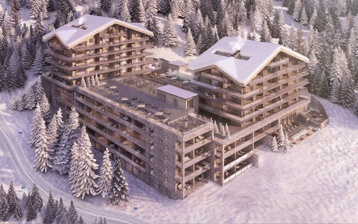 Rendering of the Six Senses Crans-Montana in Switzerland
