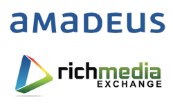 Rich Media Exchange and Amadeus logos