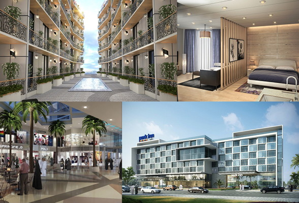 Collage of various Radisson hotels