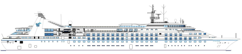 Rendering of a Windstar Cruises ship