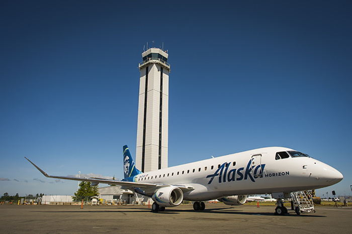 An Alaska Airlines airplane