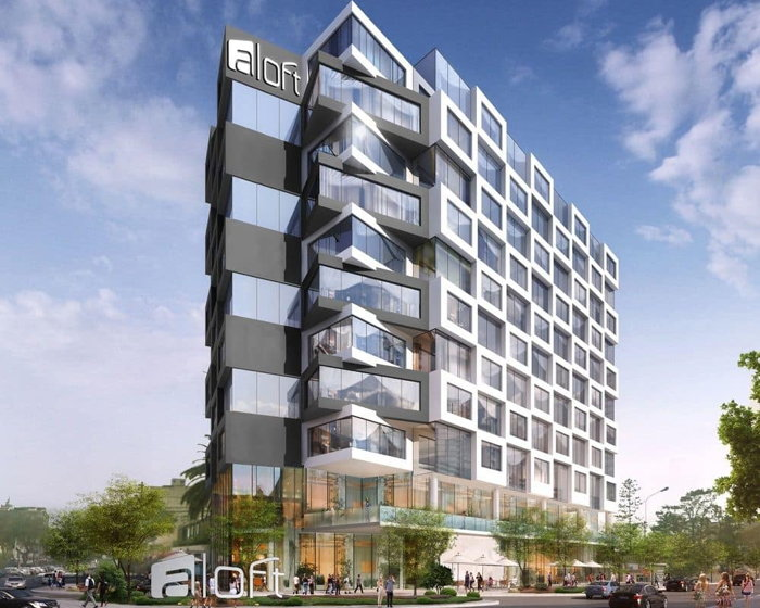 Rendering of the Aloft Lima Miraflores Hotel