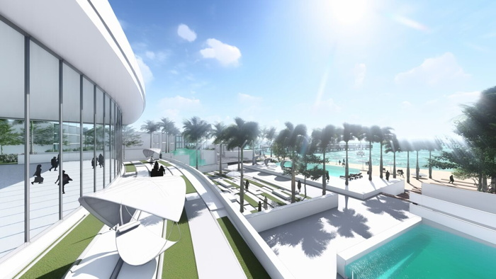Rendering of the Conrad Marjan Island Resort