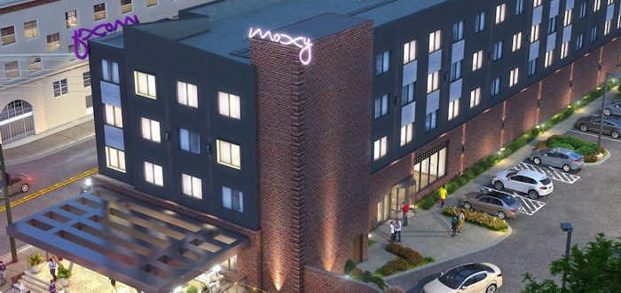 Rendering of the Moxy Chattanooga Downtown Hotel