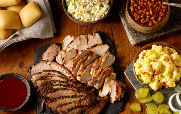 Various Dickey's Barbecue Pit dishes