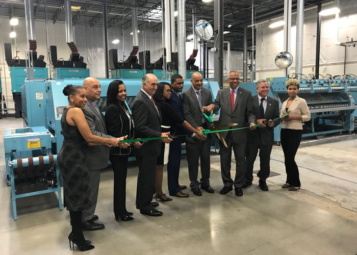 Image from Metro Laundry Service and InvoTech Laundry System ribbon cutting ceremony
