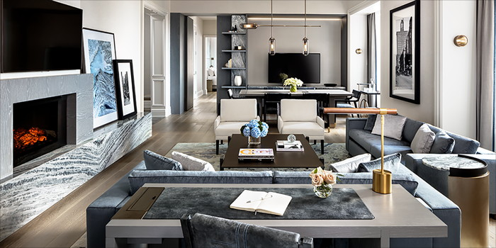 St. Regis Toronto Caroline Astor Suite Livingroom
