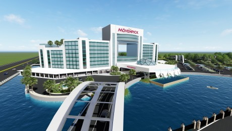 Rendering of the Mövenpick Hotel to Open 2021 in Senegal