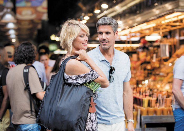 A couple at an unnamed street market