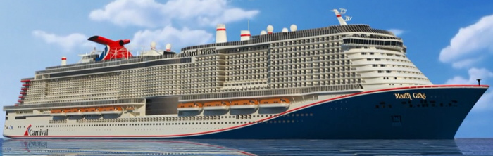 Rendering of the Mardi Gras cruise ship