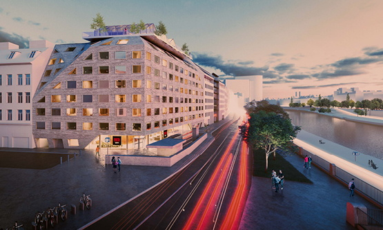 Rendering of the Radisson RED Vienna