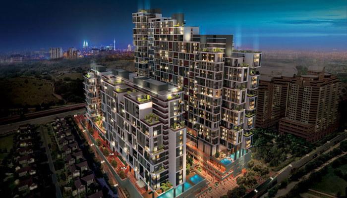 Rendering of the Hyatt House Kuala Lumpur Mont'kiara