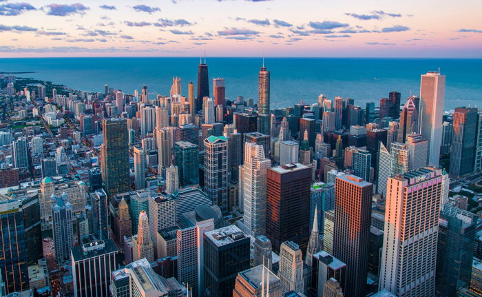 Aeral view of Chicago - Photo by Pedro Lastra on Unsplash