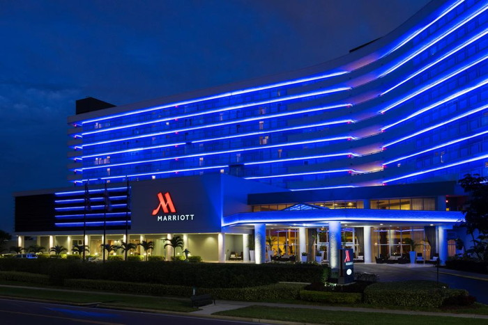 Clearwater Beach Marriott Suites on Sand Key - Exterior at night