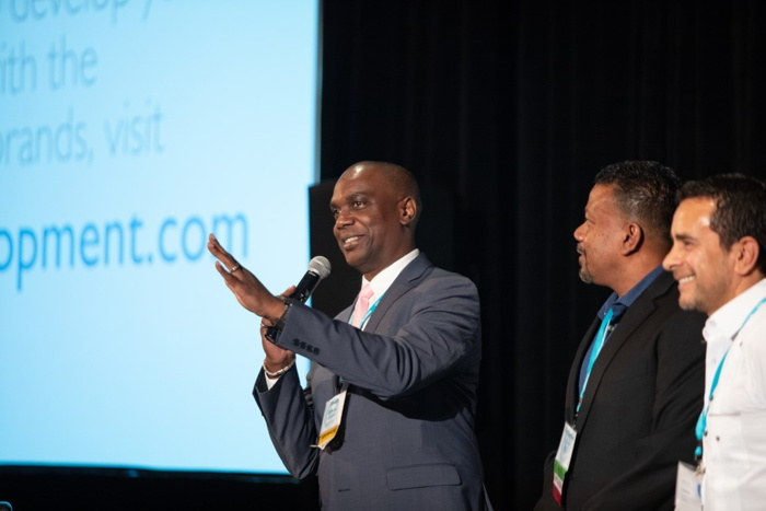 Pictured left to right: Claude Duncan, Vice President of Jampro, Parris Jordan, Chairman of CHICOS, and Fernando Fernandez, Vice President, Development of Apple Leisure Group