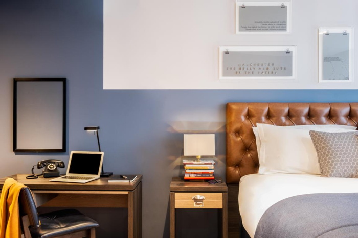 Guestroom at the Hotel Indigo Manchester - Victoria Station