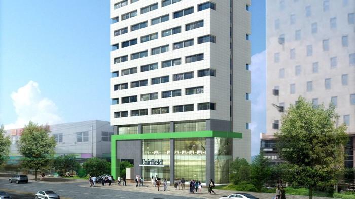 Rendering of the Fairfield by Marriott Busan