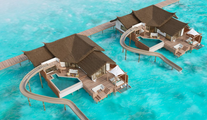 Rendering of the Ocean Villas at Jumeirah Vittaveli